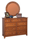Hyland Park Mule Dresser with Optional Mirror|Oak in Michaels OCS113|56in W x 19 3/4in D x 42in H|The Amish Home|Amish Furniture at the Pittsburgh Mills
