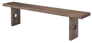 Galena Bench | Brown Maple in Smoke OCS121 | Many Sizes Available | The Amish Home | Amish Furniture at the Pittsburgh Mills