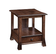 Willow End Table | Brown Maple in Earthtone | 24in W x 22in D x 24in H | The Amish Home | Amish Furniture at the Pittsburgh Mills