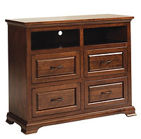 Wilkshire TV Console|Rustic Cherry in Boston OCS111|46in W x 18in D x 30in H|The Amish Home|Amish Furniture at the Pittsburgh Mills