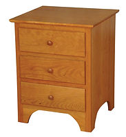 Jonas's Shaker 3 Drawer Nightstand|Oak in Seely OCS104|22in W x 19in D x 27in H|The Amish Home|Amish Furniture at the Pittsburgh Mills
