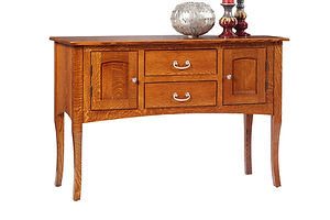 English Shaker Sideboard|Quartersawn White Oak in Michaels OCS113|54in W x 19in D x 36in H|The Amish Home|Amish Furniture at the Pittsburgh Mills
