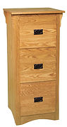 Ray's Mission Three-Drawer File Cabinet | Oak in Fruitwood OCS102 | 21 1/2in W x 20 1/2in D x 46 1/2in H | The Amish Home | Amish Furniture at the Pittsburgh Mills