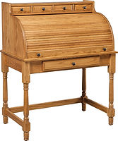 Junior's Large Student Roll Top Desk | Oak in Seely OCS104 | 40in W x 24in D x 49in H | The Amish Home | Amish Furniture at the Pittsburgh Mills