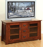 Aspen TV Stand|Rustic Cherry in Boston OCS111|56in W x 20in D x 30in H|The Amish Home|Hardwood Furniture at the Pittsburgh Mills