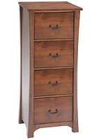 Woodbury Four-drawer File Cabinet | Brown Maple in Asbury OCS117 | 24 1/4in W x 24in D x 55 1/2in H | The Amish Home | Amish Furniture at the Pittsburgh Mills