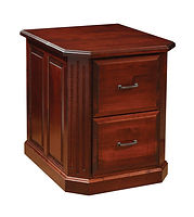 Fifth Avenue Two-Drawer File Cabinet | Brown Maple in Rich Cherry OCS227 | 26in W x 30in D x 30 1/2in H | The Amish Home | Amish Furniture at the Pittsburgh Mills