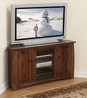 Sonoma Corner TV Stand|Brown Maple in Coffee OCS226|46in W x 20in D x 30in H, 32 1/2in wall space|The Amish Home|Hardwood Furniture at the Pittsburgh Mills
