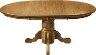 Adams Single Pedestal Dining Table Oak in Seely OCS104 Many Sizes Available The Amish Home Amish Furniture at the Pittsburgh Mills
