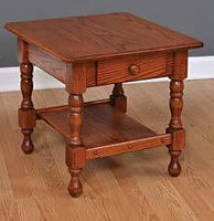 Steve's Traditional End Table | Oak in Harvest OCS116 | 22in W x 24in D x 24in H | The Amish Home | Amish Furniture at the Pittsburgh Mills