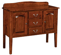 Millcreek Sideboard with two doors and three drawers | Brown Maple in Michaels OCS113 | 43in W x 16 1/2in D x 35in H | The Amish Home | Amish Furniture at the Pittsburgh Mills