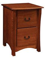 Master 2 Drawer File Cabinet|Quartersawn White Oak in Michaels OCS113|23 3/4in W x 26in D x 33in H|The Amish Home|Amish Furniture at the Pittsburgh Mills