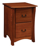 Master Two-Drawer File Cabinet | Quartersawn White Oak in Michaels OCS113 | 23 3/4in W x 26in D x 33in H | The Amish Home | Amish Furniture at the Pittsburgh Mills