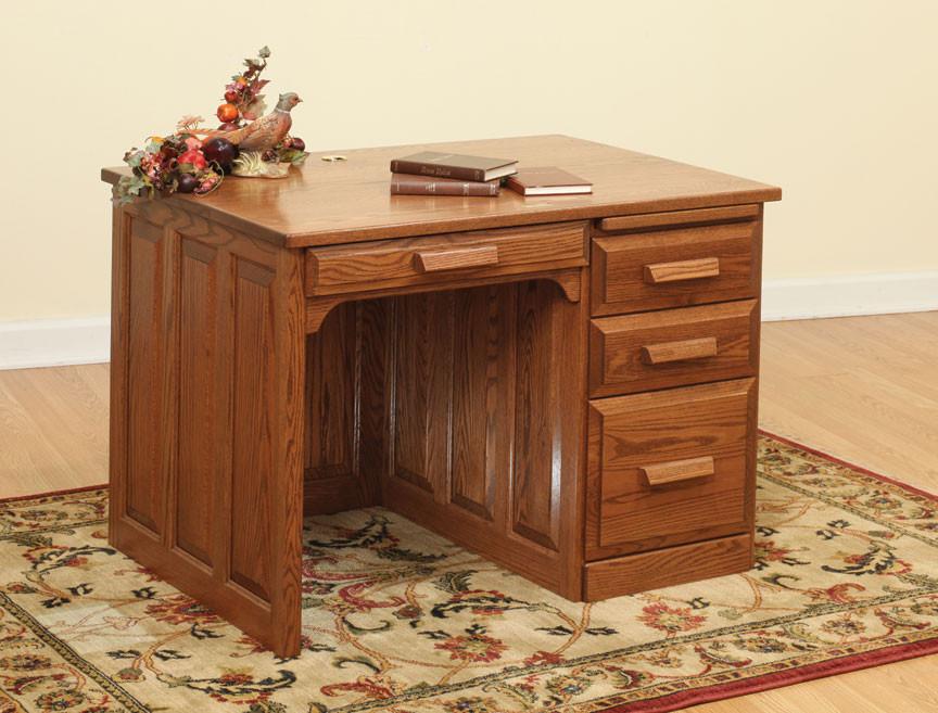 Glen Mission Traditional Single Pedestal Desk - Home Office Furniture