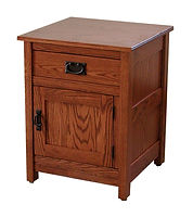 Country Mission 1 Drawer 1 Door Nightstand|Oak in Michaels OCS113|24 5/16in W x 19 7/8in D x 29 1/2in H|The Amish Home|Amish Furniture at the Pittsburgh Mills