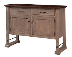 Carla Elizabeth Sideboard | Standard features include soft-close doors and soft-close drawers. Optional wine rack available. | Brown Maple in Two-toned | 54in W x 20in D x 40in H | The Amish Home | Amish Furniture at the Pittsburgh Mills