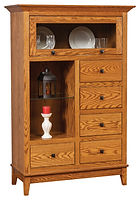 Canterbury Cabinet|Oak in Seely OCS104|44in W x 19in D x 67in H|The Amish Home|Amish Furniture at the Pittsburgh Mills