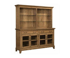 Koehler Road China Cabinet | Oak in S-14 OCS108 | 76in W x 20in D x 83in H | The Amish Home | Amish Furniture at the Pittsburgh Mills