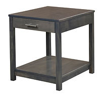 Nelson's Economy Urban End Table | Brown Maple in Smoke OCS121 | 22in W x 24in D x 24in H | The Amish Home | Amish Furniture at the Pittsburgh Mills