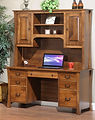 Woodbury Computer Desk with Hutch | Brown Maple in Asbury OCS117 | 60in W x 24in D x 73in H | The Amish Home | Amish Furniture at the Pittsburgh Mills