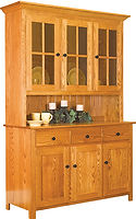 Old South 3 Door Hutch|Oak in Seely OCS104|59 1/4in W x 20in D x 82 1/4in H|The Amish Home|Amish Furniture at the Pittsburgh Mills