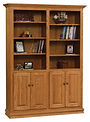 Wayne's Traditional Bookcase with optional doors | Oak in Seely OCS104 | Many Sizes Available | The Amish Home | Amish Furniture at the Pittsburgh Mills
