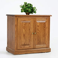 Highland Storage Cabinet with two doors | Oak in Fruitwood OCS102 | 33in W x 20in D x 30 3/4in H | The Amish Home | Amish Furniture at the Pittsburgh Mills