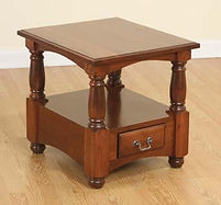 Manchester End Table|Rustic Cherry in Boston OCS111|22in W x 24in D x 23in H|The Amish Home|Amish Furniture at the Pittsburgh Mills