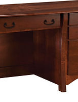 Master Single Pedestal Desk|Rustic Cherry in Michaels OCS113|51 1/2in W x 26in D x 30in H|The Amish Home|Amish Furniture at the Pittsburgh Mills