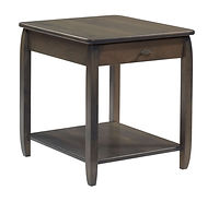 Apache End Table | Brown Maple in Antique Slate OCS118 | 22in W x 24in D x 24in H | The Amish Home | Amish Furniture at the Pittsburgh Mills