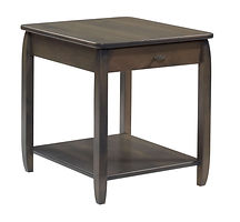 Apache End Table|Brown Maple in Antique Slate OCS118|22in W x 24in D x 24in H|The Amish Home|Amish Furniture at the Pittsburgh Mills