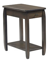 Apache Chairside Table|Brown Maple in Antique Slate OCS118|13in W x 22in D x 24in H|The Amish Home|Amish Furniture at the Pittsburgh Mills