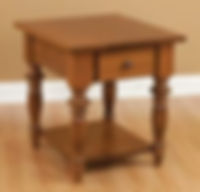 London End Table | Cherry in S-14 OCS108 | 22in W x 24in D x 24in H | The Amish Home | Amish Furniture at the Pittsburgh Mills