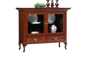 Queen Victoria China Pantry|Cherry in Acres OCS106|56in W x 21in D x 45in H|The Amish Home|Amish Furniture at the Pittsburgh Mills