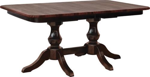 Denver Double Pedestal Farmhouse Table
