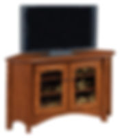 Master Corner TV Stand | Oak in Michaels OCS113 | 53in W x 20in D x 30in H, 38 1/2in wall space | The Amish Home | Amish Furniture at the Pittsburgh Mills