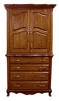 Classic Armoire|Oak in Seely OCS104|45in W x 23in D x 81 1/4in H|The Amish Home|Amish Furniture at the Pittsburgh Mills