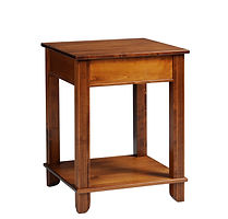 Arlington Corner Table|Brown Maple in Michaels OCS113|24in W x 24in D x 30 3/4in H|The Amish Home|Amish Furniture at the Pittsburgh Mills