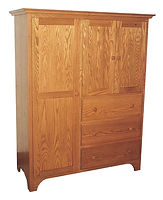 Jonas's Shaker Chifforobe|Oak in Seely OCS104|51 1/2in W x 21 7/8in D x 69 1/2in H|The Amish Home|Amish Furniture at the Pittsburgh Mills