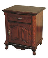 Classic 1 Drawer 1 Door Nightstand|Oak in Washington OCS107|27 1/8in W x 21in D x 31 1/2in H|The Amish Home|Amish Furniture at the Pittsburgh Mills