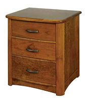Meridian 3 Drawer Nightstand|Rustic Cherry in Seely OCS104|25in W x 20 5/8in D x 30in H|The Amish Home|Amish Furniture at the Pittsburgh Mills