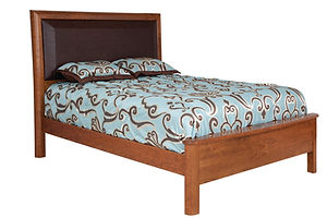leather beds contemporary beds custom beds Amish furniture Pittsburgh queen bed king bed california king bed wooden bed
