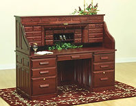 David's Deluxe 68in Roll Top Desk with Drawers on Top | Cherry in Acres OCS106 | 68in W x 30in D x 55 1/2in H | The Amish Home | Amish Furniture at the Pittsburgh Mills