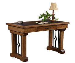 Eckstein Writing Table with optional leather inlay | Oak in Medium OCS110 | 54in W x 28in D x 30 1/2in H | The Amish Home | Amish Furniture at the Pittsburgh Mills
