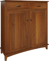 Lynnwood Pie Safe with two doors and two drawers | with two adjustable shelves | Rustic Quartersawn White Oak in Michaels OCS113 | 48in W x 16in D x 51in H | The Amish Home | Amish Furniture at the Pittsburgh Mills