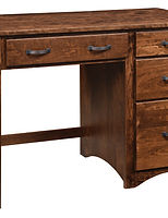 Wayne's Shaker Single Pedestal Desk|Rustic Cherry in Medium OCS110|45in W x 22in D x 31in H|The Amish Home|Amish Furniture at the Pittsburgh Mills