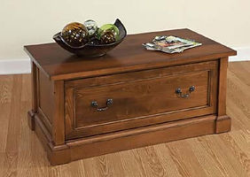 Bridgeport Coffee Table|Brown Maple in Boston OCS111|48in W x 22in D x 18in H|The Amish Home|Amish Furniture at the Pittsburgh Mills