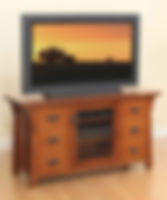 Cantebury TV Stand|Quartersawn White Oak in Michaels OCS113|Three Sizes Available|The Amish Home|Amish Furniture at the Pittsburgh Mills