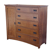 Empire Mission Man's Chest|Quartersawn White Oak in Michaels OCS120|58 1/2in W x 20 3/4in D x 52in H|The Amish Home|Hardwood Furniture at the Pittsburgh Mills