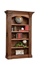 Montereau Bookcase | Brown Maple in Rock Tavern | 53in W x 18 3/4in D x 85 1/4in H | The Amish Home | Amish Furniture at the Pittsburgh Mills